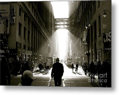 Morning In Manhattan Metal Print by Jerry Patterson
