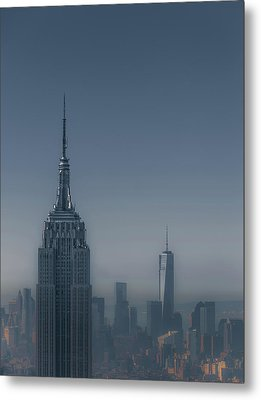 Morning In New York Metal Print by Chris Fletcher