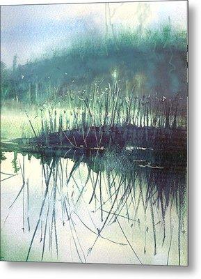 Morning Marsh Metal Print by Gertrude Palmer