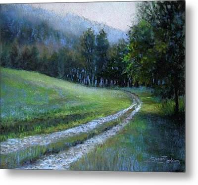 Morning On Blue Mountain Road Metal Print by Susan Jenkins