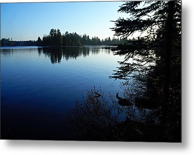 Morning On Chad Lake Metal Print by Larry Ricker