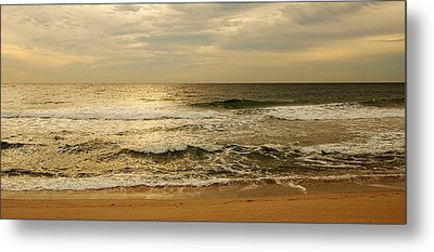 Morning On The Beach - Jersey Shore Metal Print by Angie Tirado
