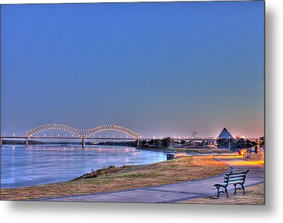 Morning On The Mississippi Metal Print by Barry Jones