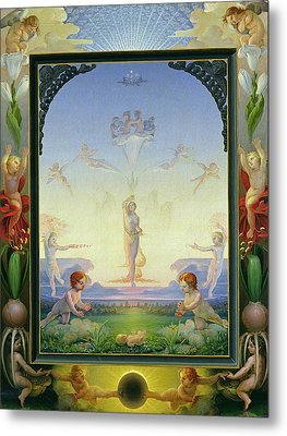Morning Metal Print by Philipp Otto Runge