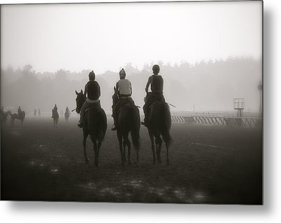 Morning Workout Saratoga Ny Metal Print by Amanda Lonergan