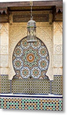 Moroccan Fountain Metal Print by Tom Gowanlock