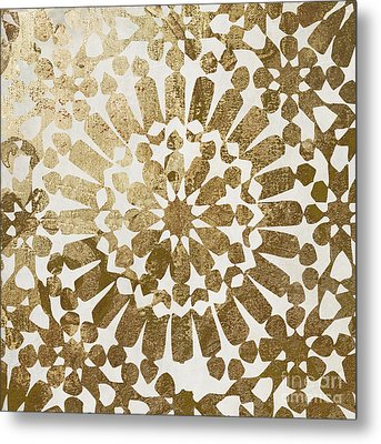 Moroccan Gold II Metal Print by Mindy Sommers