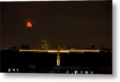 Moscow By Night Metal Print by Stelios Kleanthous