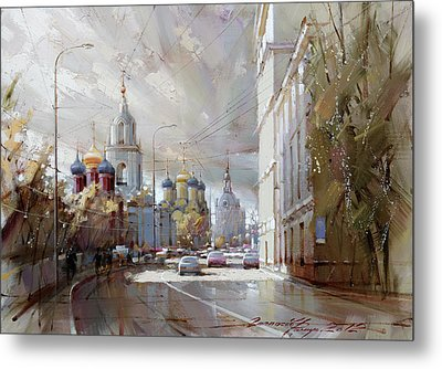 Moscow. Varvarka Street. Metal Print by Ramil Gappasov