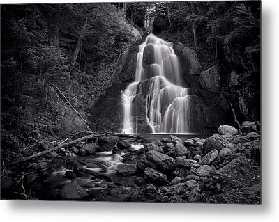 Moss Glen Falls - Monochrome Metal Print by Stephen Stookey
