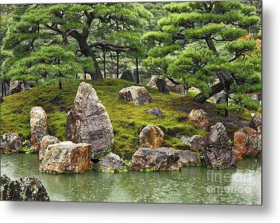 Mossy Japanese Garden Metal Print by Carol Groenen