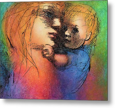 Mother And Child Metal Print by Claire  Szalay Phipps