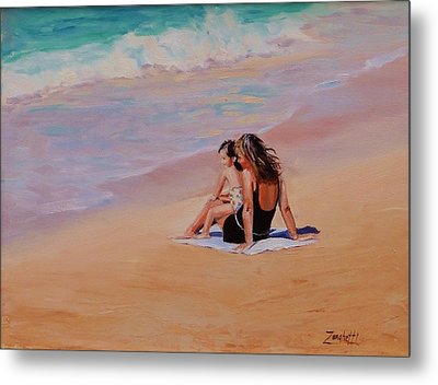 Mother And Child Metal Print by Laura Lee Zanghetti