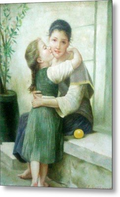 Mother And Daughter Metal Print by Unique Consignment