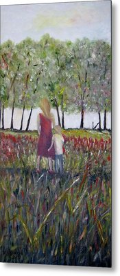Mother And Son Metal Print by Marilyn  McNish