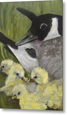 Mother Goose Metal Print by Edith Hunsberger