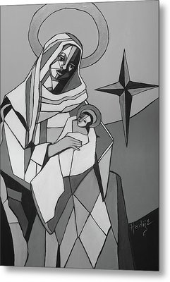 Mother Mary And Son Jesus Metal Print by Mary DuCharme
