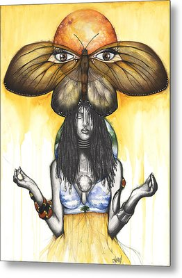 Mother Nature Ix Metal Print by Anthony Burks Sr