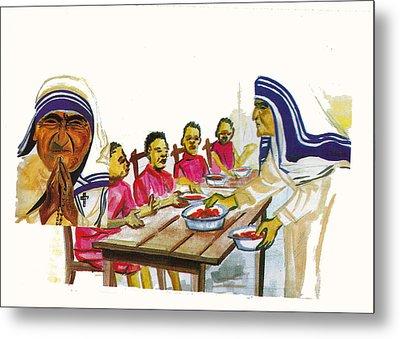Mother Teresa Metal Print by Emmanuel Baliyanga