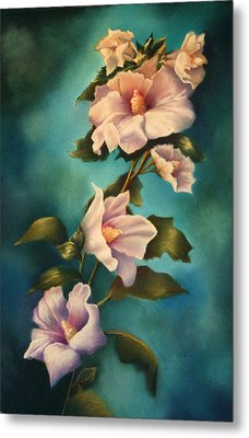 Mothers Rose Of Sharon Metal Print by Marti Bailey