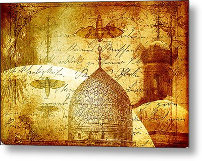 Moths And Mosques Metal Print by Tammy Wetzel