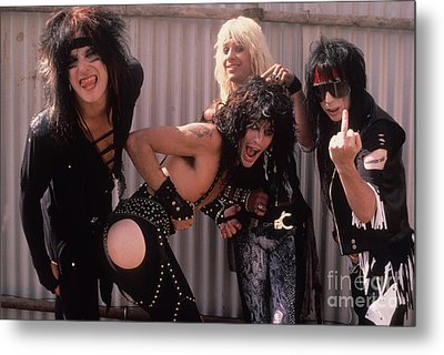 Motley Crue Metal Print by David Plastik