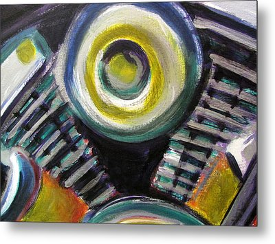 Motorcycle Abstract Engine 2 Metal Print by Anita Burgermeister
