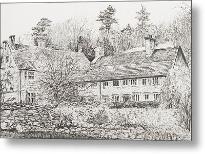 Mottistone Hall  Isle Of Wight Metal Print by Vincent Alexander Booth