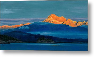Mount Baker Sunset Metal Print by Marie-Claire Dole
