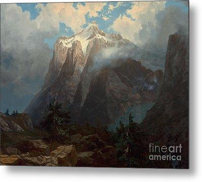 Mount Brewer From King River Canyon California Metal Print by Albert Bierstadt