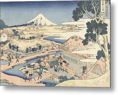 Mount Fuji From Katakura Tea Garden Metal Print by Hokusai