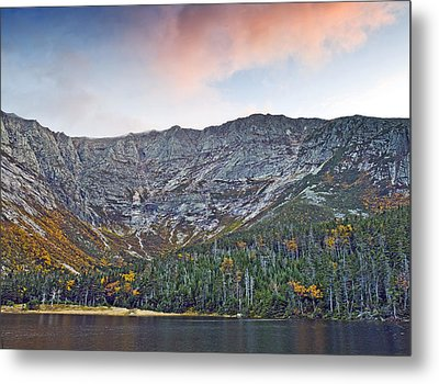 Mount Katahdin From Chimney Pond In Baxter State Park Maine Metal Print by Brendan Reals