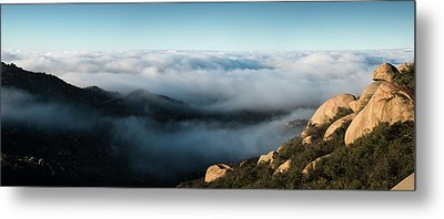 Mount Woodson Clouds Metal Print by William Dunigan