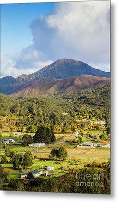 Mount Zeehan Valley Town. West Tasmania Australia Metal Print by Jorgo Photography - Wall Art Gallery