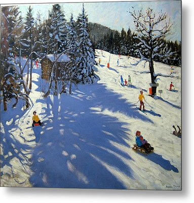 Mountain Hut Metal Print by Andrew Macara