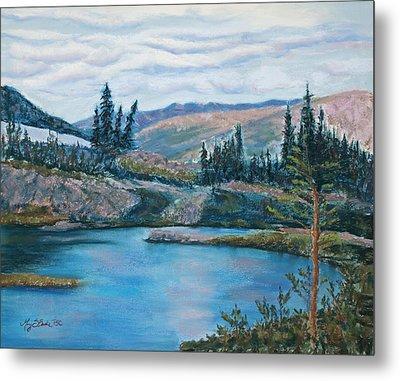 Mountain Lake Metal Print by Mary Benke