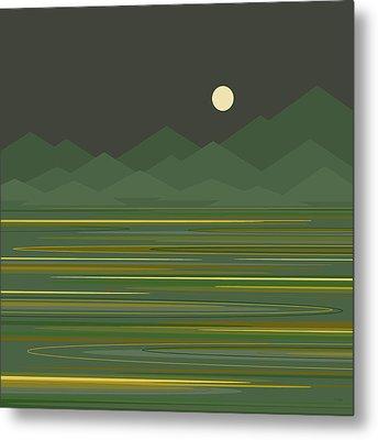 Mountain Lake Metal Print by Val Arie