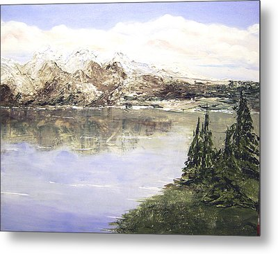 Mountain Majesty Metal Print by Terry Honstead