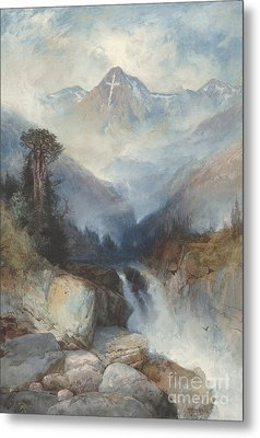 Mountain Of The Holy Cross Metal Print by Thomas Moran