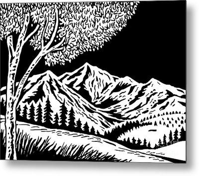 Mountain Scene Metal Print by Aloysius Patrimonio