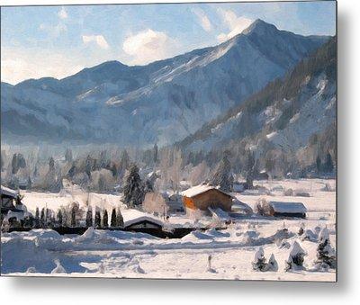 Mountain Snowscape Metal Print by Danny Smythe