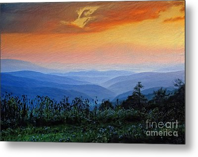 Mountain Sunrise Metal Print by Lois Bryan