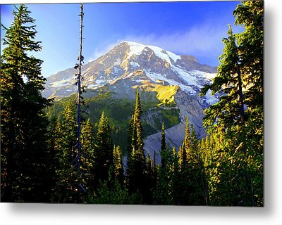 Mountain Sunset Metal Print by Marty Koch