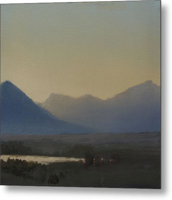 Mountain Valley Sold Metal Print by Cap Pannell
