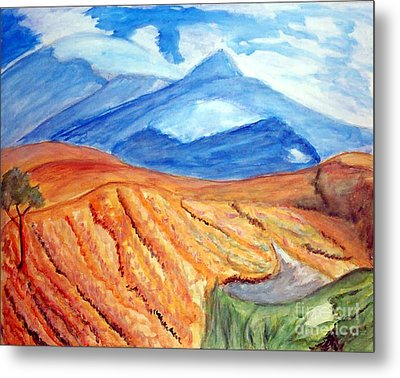 Mountains In Mexico Metal Print by Stanley Morganstein