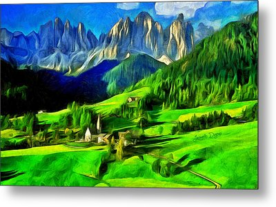 Mountains Metal Print by Leonardo Digenio