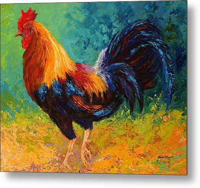Mr Big - Rooster Metal Print by Marion Rose