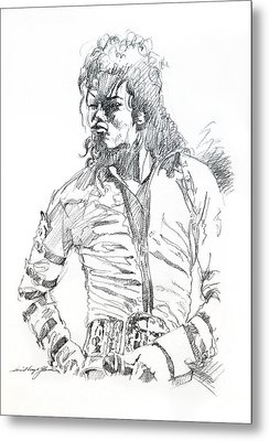 Mr. Jackson Metal Print by David Lloyd Glover