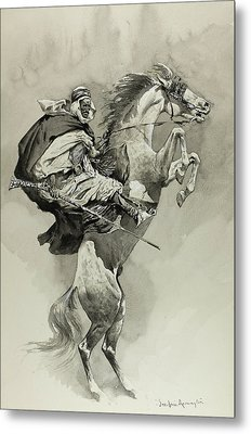 Mubarek The Arabian Chief Metal Print by Frederic Remington