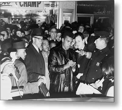 Muhammad Ali Cassius Clay Defeated Metal Print by Everett